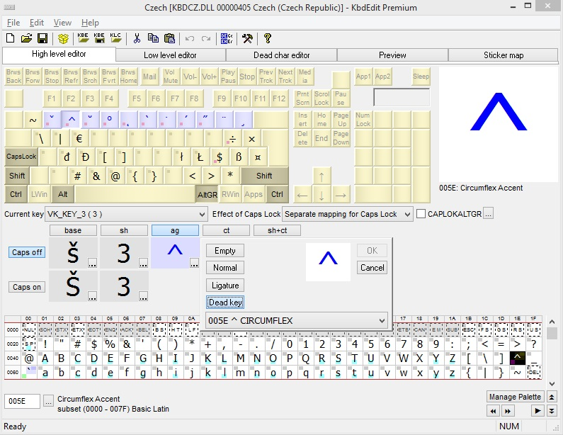 Windows Keyboard Layout Editor (32, 64 bit)