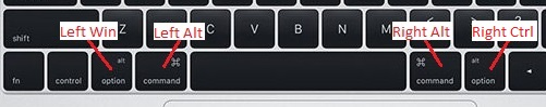 Mac Boot Camp: fixed positions of Alt, Windows and Ctrl keys