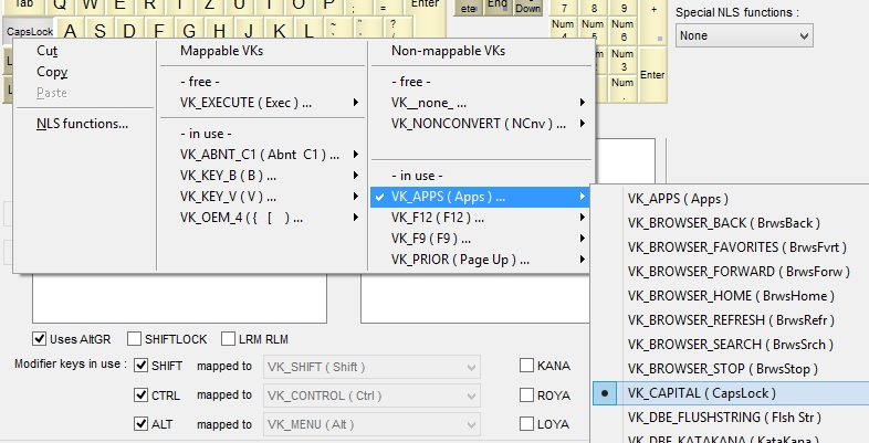 Editing VK Mappings